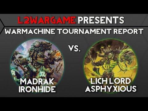 Madrak 1 VS. Asphyxious 2, Warmachine Tournament Report