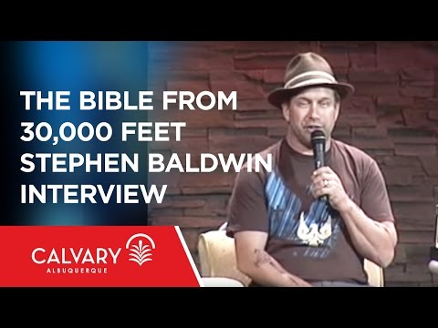 Stephen Baldwin Interview - The Bible From 30,000 Feet