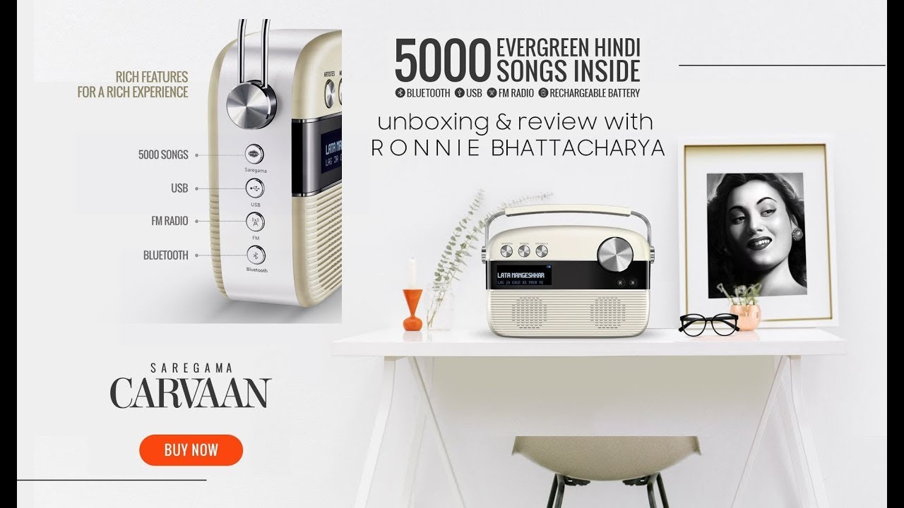 saregama carvaan || Bluetooth speakers with FM radio and USB || review and  unboxing