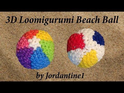 New Loomigurumi / Amigurumi Beach Ball - Rubber Band Crochet - Rainbow Loom - Hook Only