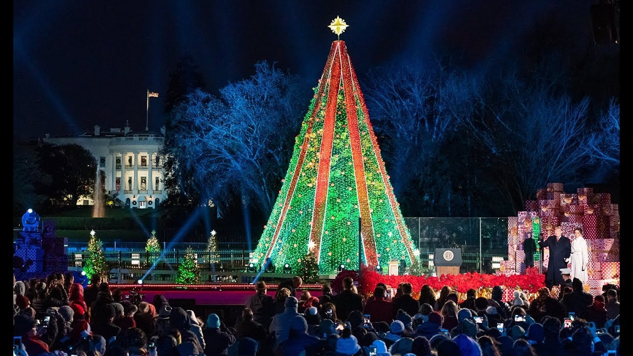 President Trump and  the First Lady Participate in the National Christmas Tree Lighting Ceremony