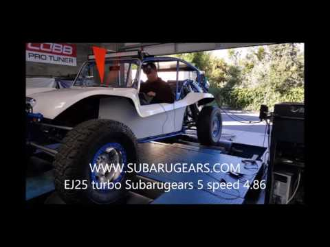 Super Manx with Subarugears 5 speed on the dyno