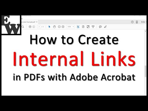 How To Create Internal Links In PDFs With Adobe Acrobat