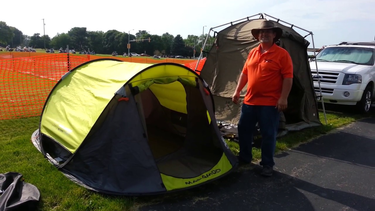 MALAMOO XTRA 3 Second Tent take down & MALAMOO XTRA 3 Second Tent take down - YouTube