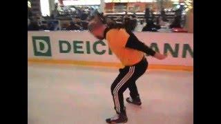 Катание на коньках обучение! 3-я тренировка Василия