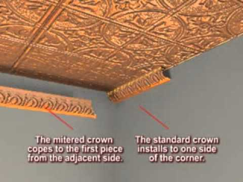 Tin Crown Molding Installation Factory Miters Youtube