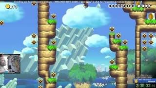 "Super Mario Maker - Precision Platforming Perfection level ""Speedrun Fun"" 3rd CLEAR!"