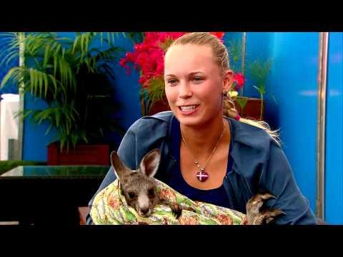 Caroline Wozniacki Gets Roo'd