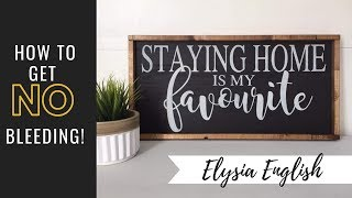 How To Paint Signs With No Bleeding | Stencil with no bleeding | Sign Painting | how to make a sign