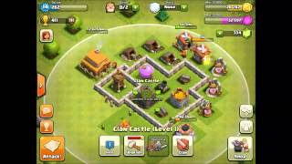 Clash of Clans | Town Hall 3 Base Defense for farmers! (June 2013)