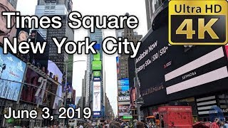 【4K】Walking tour of Times Square , New York City