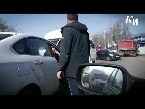 Курск. На Силикатном проезде произошла авария с участием маршрутки
