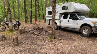 Illinois Bayou Creek: Dispęrsed Camping Ozark National Forest