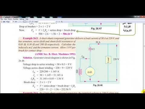 Electric machines:  DC generator المكائن الكهربائية مولد التيار المستمر   احمد شهاب