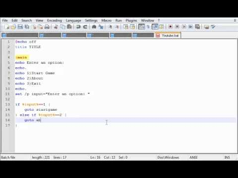 how to write a batch script