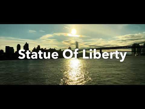 Statue Of Liberty    Manhattan Bridge    Brooklyn Bridge Cinematic