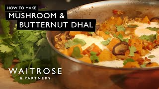 Mushroom and Butternut Dhal with Poached Eggs | Waitrose