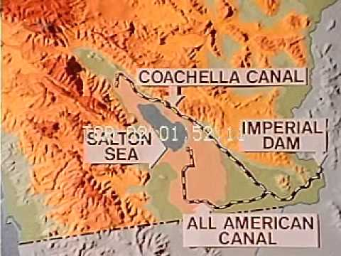 1966 CALIFORNIA, THE DESERT AND HOW MAN USES DESERT VALLEY FOR AGRICULTURE Stock Footage HD