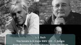 J S Bach Trio Sonata For Flutes And Continuo In G Major BWV 1039 1 Adagio 1 4