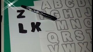 DIY Como Hacer Letras Facilmente