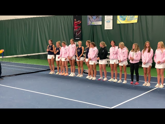 Medal ceremony for Pirate Girls Tennis