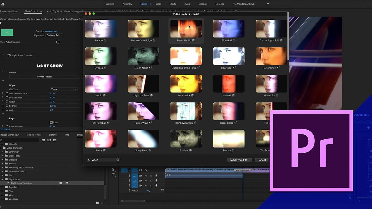 Light Show Effects Premiere Pro