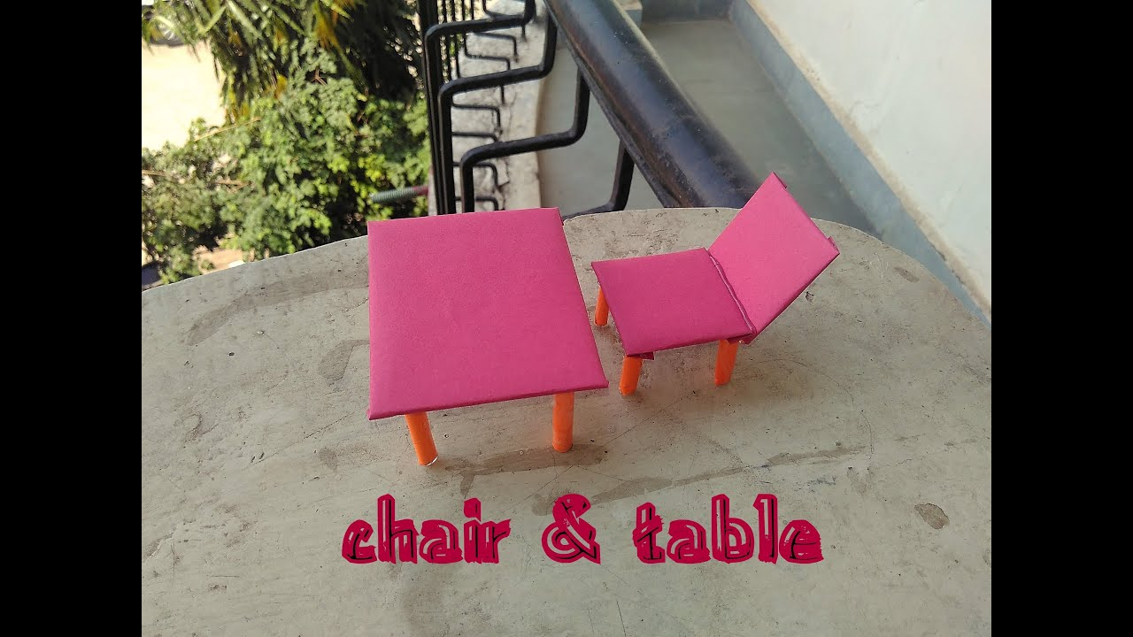 How To Make Paper Cardboard Chair Table Toy For Kids