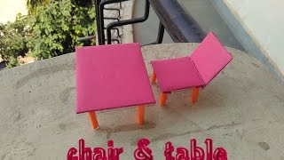 How to make paper & cardboard chair & table - toy for kids story game