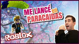 ME CAI DE UN PARACAIDAS | ROBLOX!