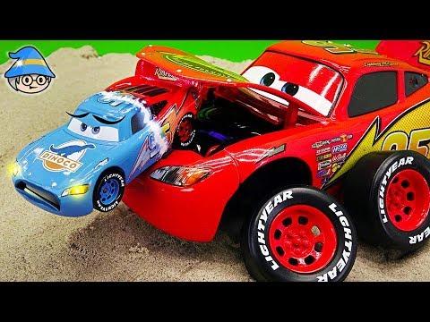 Disney Cars Transforming Car. Beat the villain with a car race.