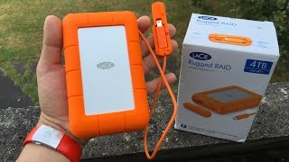 LaCie Rugged RAID 4TB 3.0 / External Hard Drive Unboxing review and Setup 2016