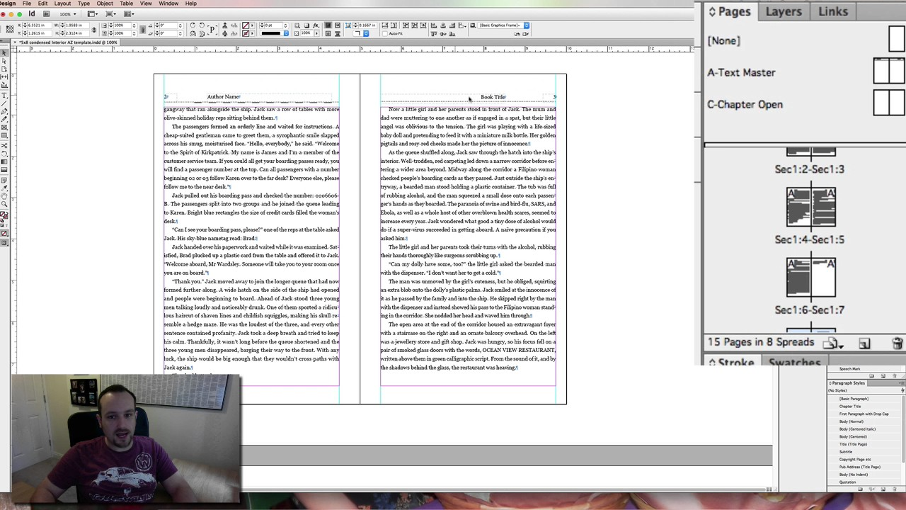 Producing a createspace interior file with indesign and a for Indesign interior