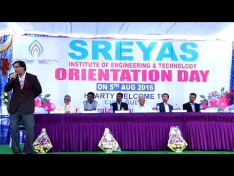 Sreyas Institute of Engineering and Technology Orintation Day 2016