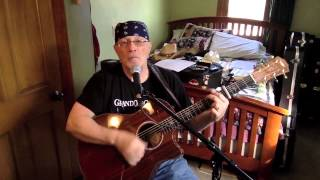 1798 -  Fortunate Son  - CCR vocal & acoustic guitar cover with chords