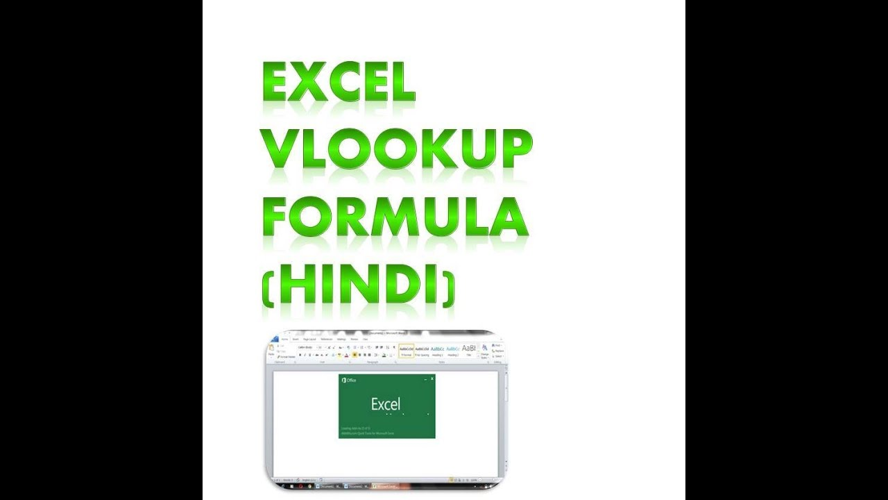 HINDI-Microsoft Excel VLOOKUP Tutorial for Beginners