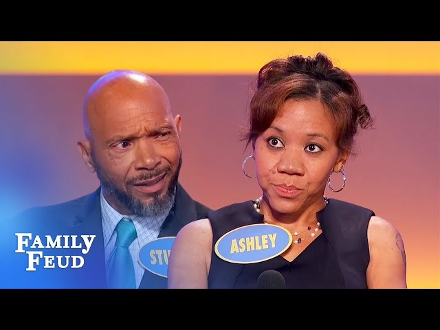 Here's who saw my husband... naked! | Family Feud