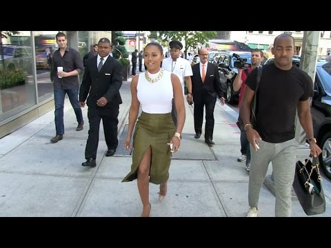 Mel B leaving the Trump Soho Hotel in New York