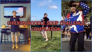 """BTS Jhope (feat. Becky G) - """"Chicken Noodle Soup"""" Dance Challenge Compilation"""