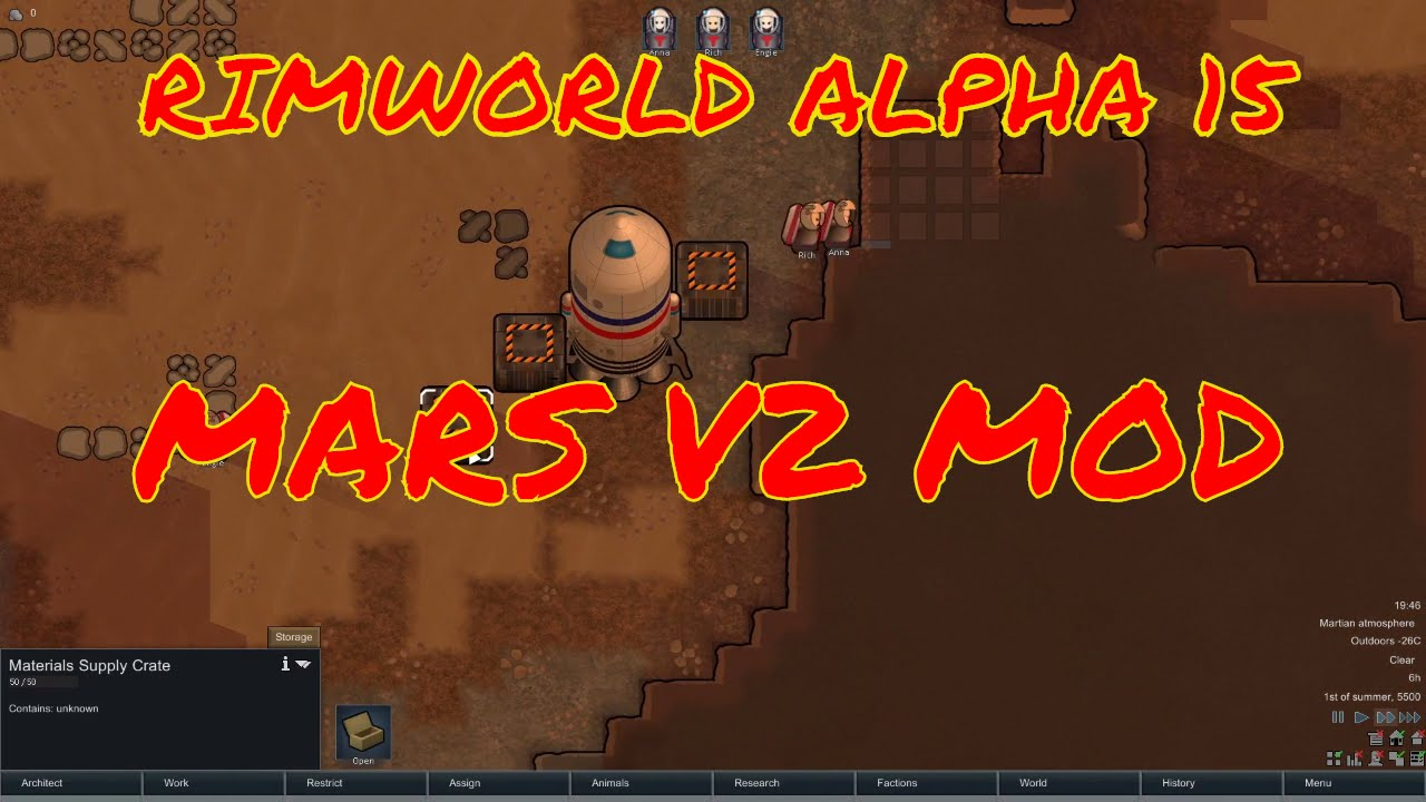 Rimworld mars v2 mod - Returning to Mars - Rimworld alpha 15 modded let's  play