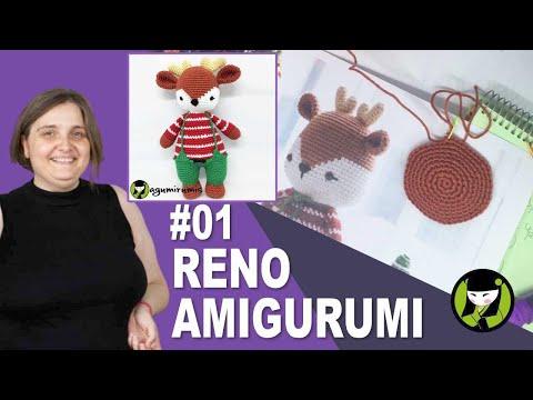 RENO AMIGURUMI 01 navidad tejido a crochet