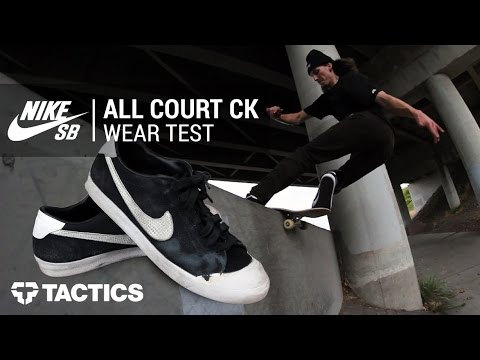 77204fc9cbdca Nike SB Zoom All Court CK Skate Shoes Wear Test Review - Tactics.com ...