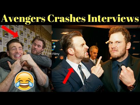 Avengers Infinity War Cast Crashes Interview - Unseen Funny Moments - 2017