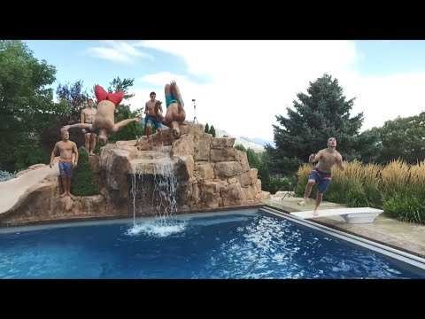 Crazy 8-Man Pool Alley-oop | White Flight
