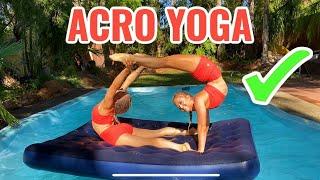 Acro Yoga Pool Challenge
