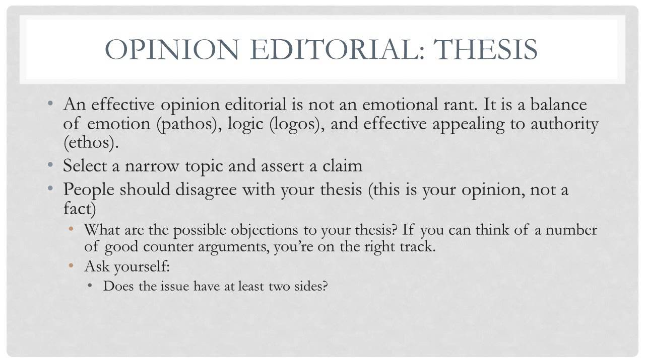 Academic Writing 24: Lecture 24 - Opinion Editorials