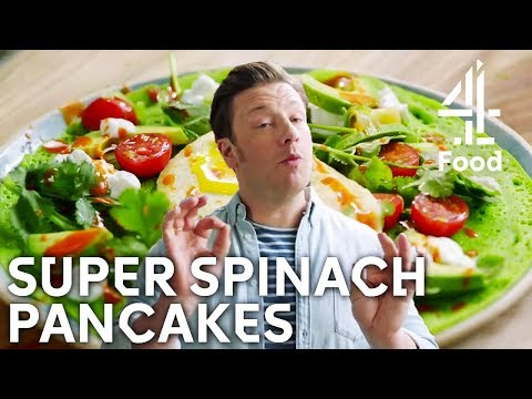DIVINE Super Spinach Pancakes! | Jamie's Meat-Free Meals