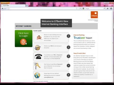 GTBank Internet Banking Demo