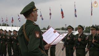 Церемония приведения к Военной присяге новобранцев спортивных рот ЦСКА (май 2019)