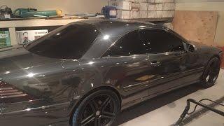 Mercedes CL 500 Черный хром(Mercedes CL 500 Black chrome, черный хром. Работа выполнена компанией Avtostyling / August 2015., 2015-08-24T03:16:12.000Z)
