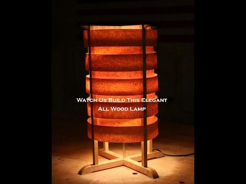 Elegant wood lamp build pt.1